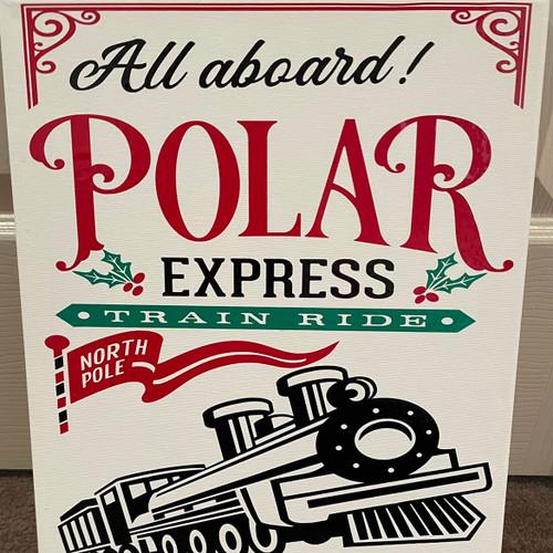 Polar express canvas