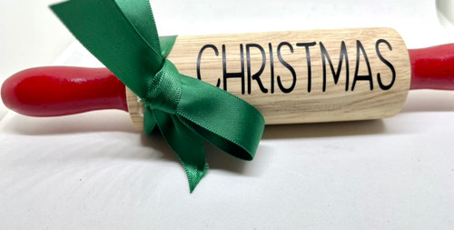Green bow rolling pin