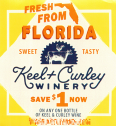 KEEL + CURLEY WINE BOTTLE, ANY $1.00/1 EXP - NO EXP