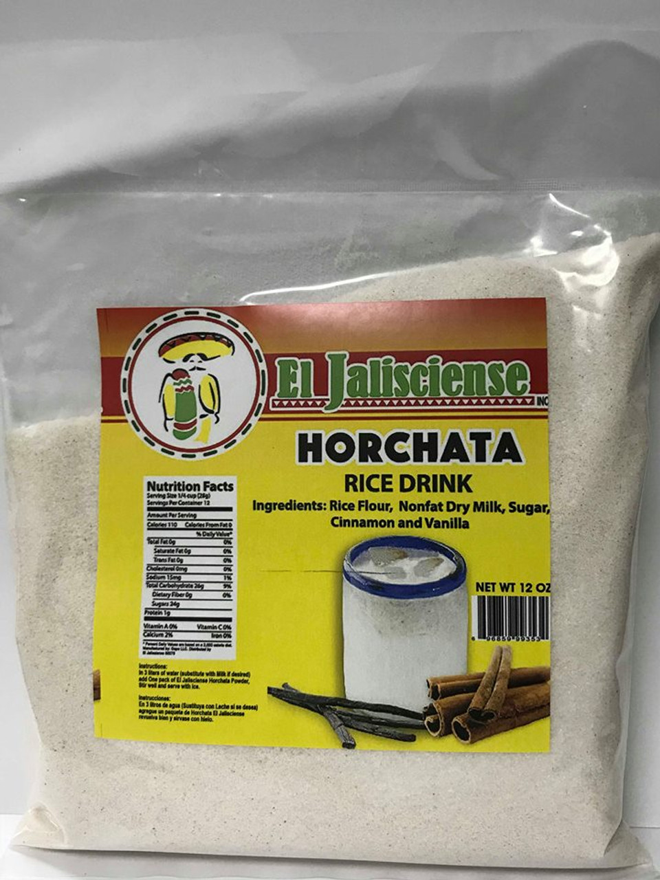 El Jalisciense Horchata Rice Drink 12oz Bag