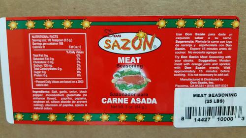 Don Sazon Meat Seasoning 25lbs