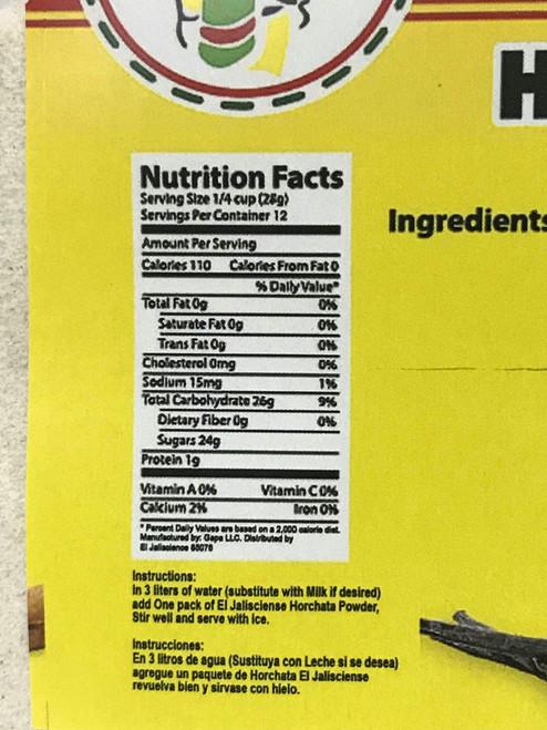El Jalisciense Horchata Rice Drink 12oz Bag