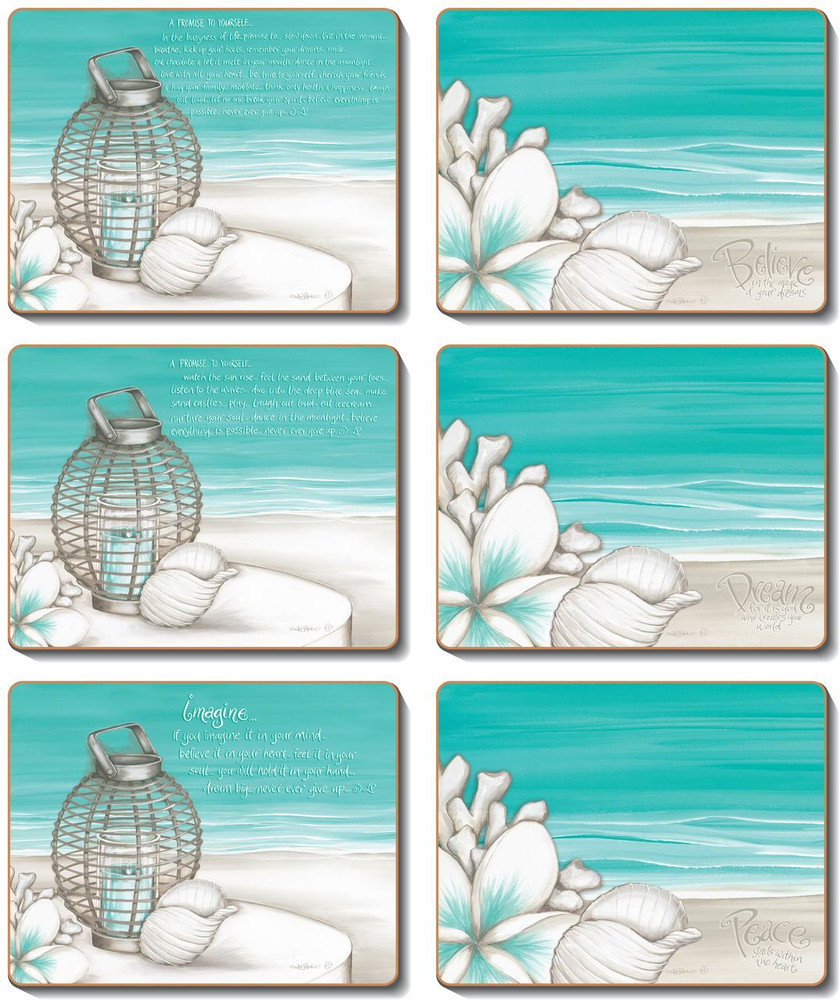 Beach Lantern Coasters