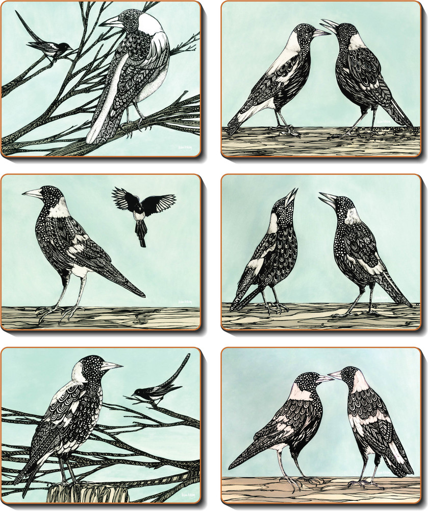 Magpie Song Coasters