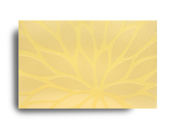 Harman Floral Jacquard Yellow Vinyl Mat
