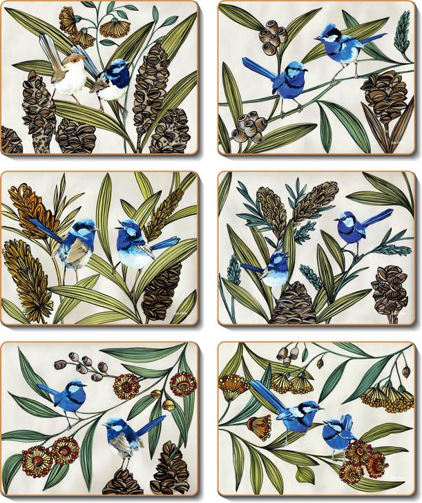 Blue Wren Coasters