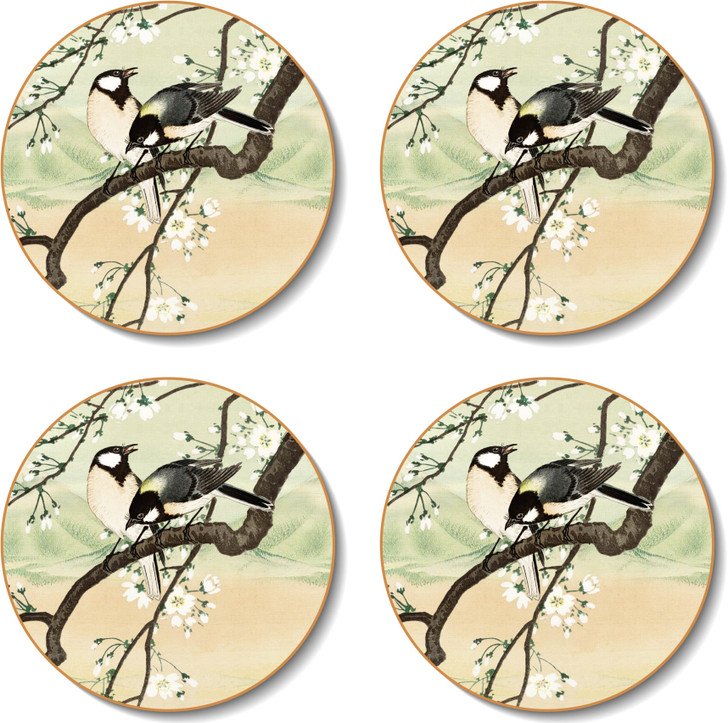 Round Japanese Landscapes Placemats