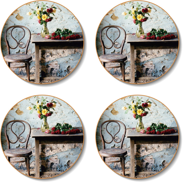 Round Blue Room Placemats