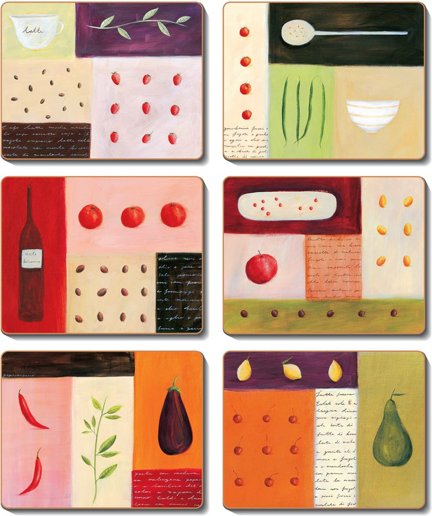 Coffee, Chilli & Olives Coasters