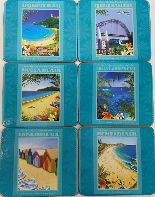 Post Cards From Paradise Coasters