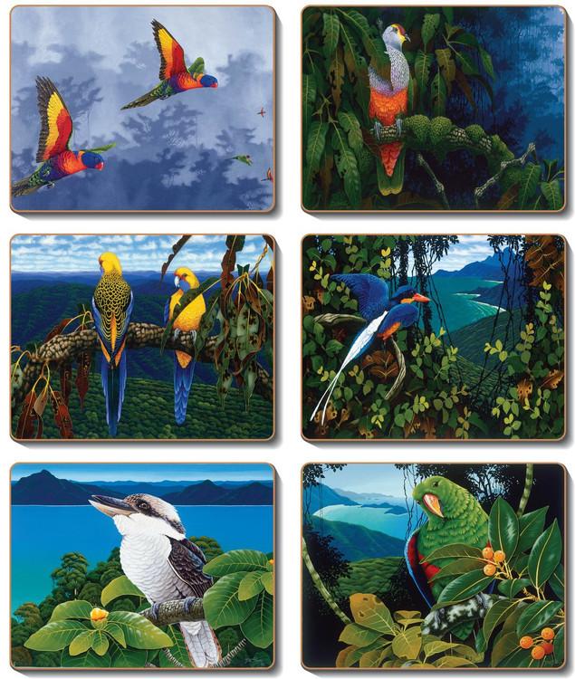Australian Birds Coasters