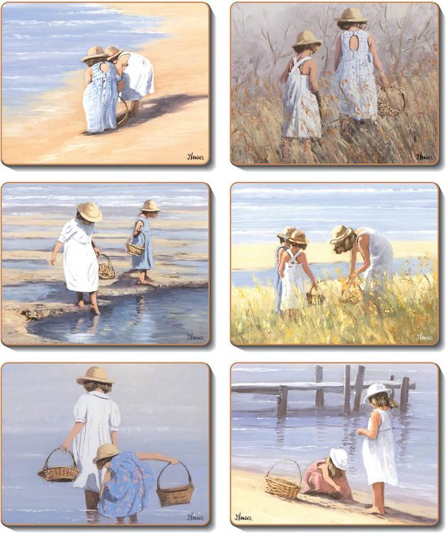 Beach Girls Coasters
