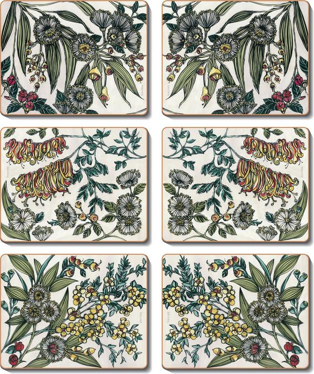 Retro Native Floral Coasters