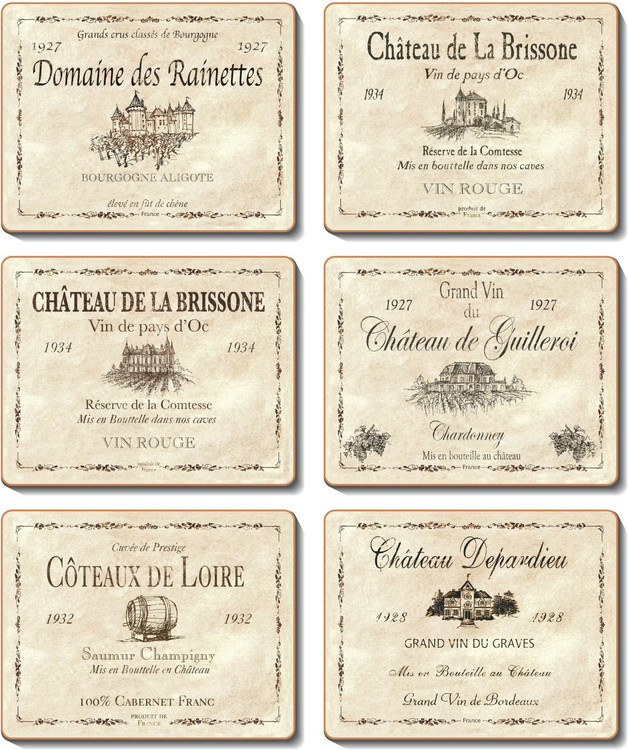 Wine Labels Placemats