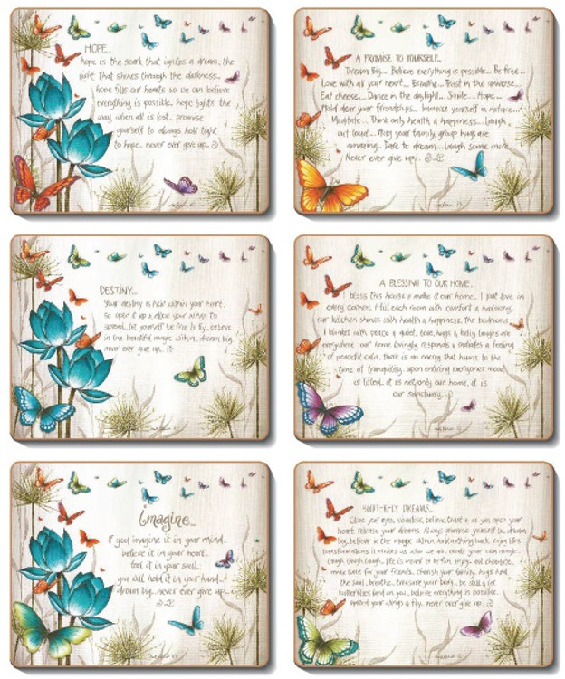 Butterfly Wishes Coasters