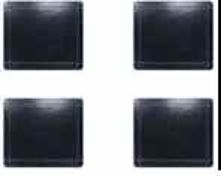 Black Leather Look Coasters ( Set of 4)