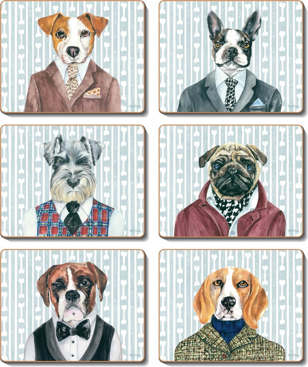 Dogs Dinner Coasters
