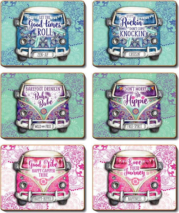Kombie Hippie Coasters