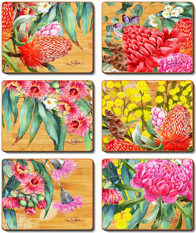 Native Flowers Coasters