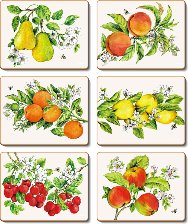 Botanical Fruit Coasters