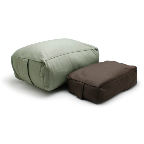 Large Rectangular Meditation Cushion (Left) and Small Rectangular Meditation Cushion (Right)
