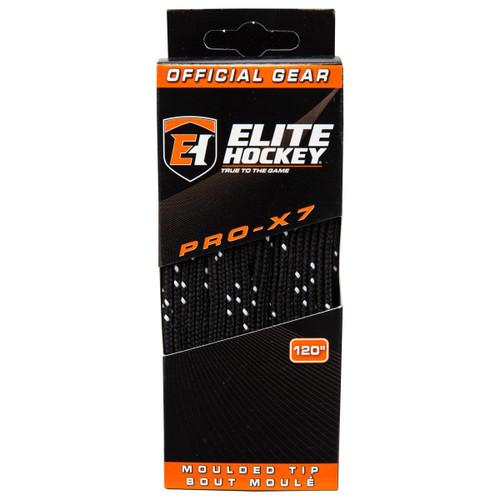 Elite Pro-X7 Hockey skate Laces - Black