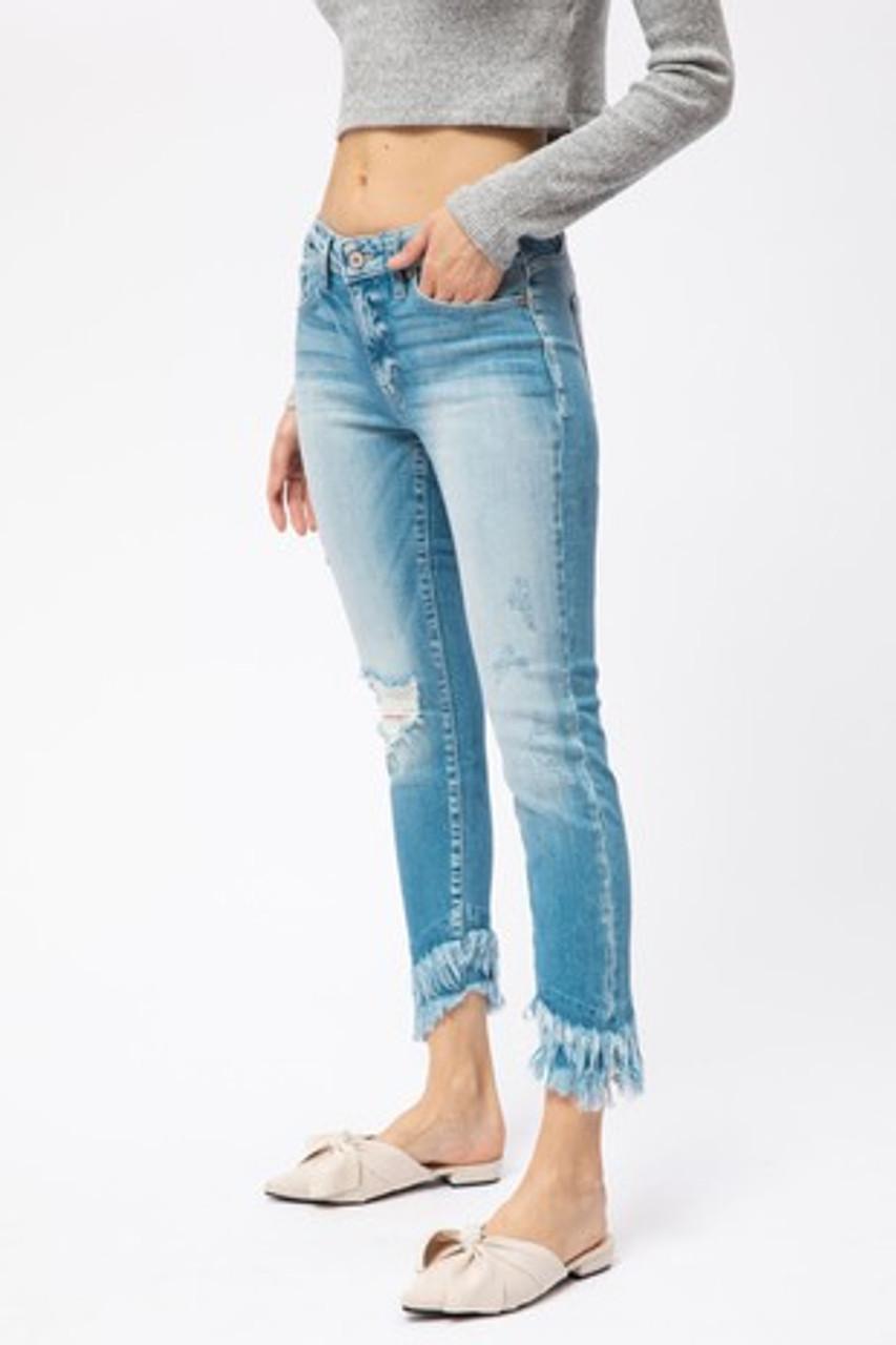Rory Fringe Distressed Kancan Jeans Brandi S Boutique