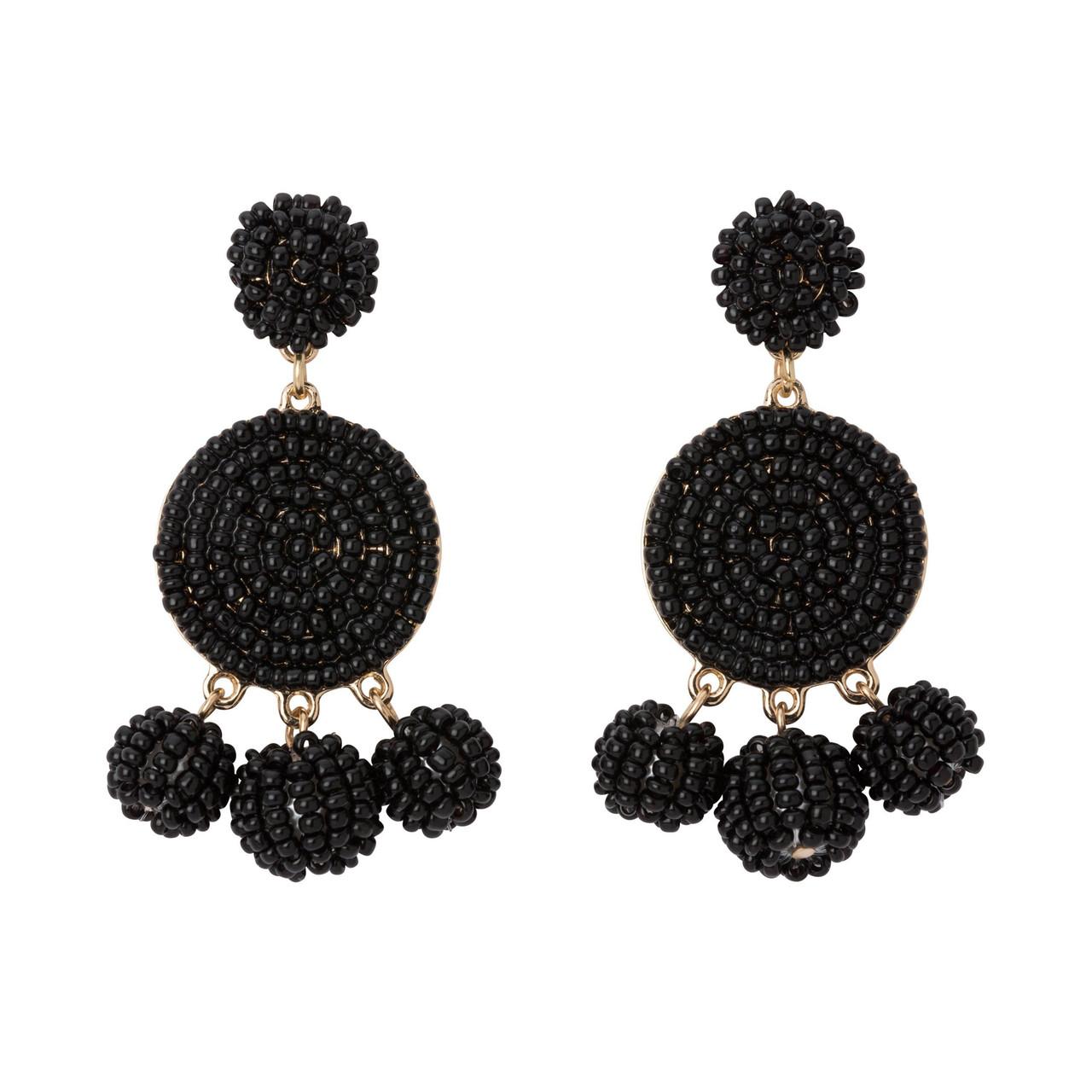 AB black circle dangle earrings  sequins earrings  iridescent evening earrings  boho earrings  festival earrings  circle earrings