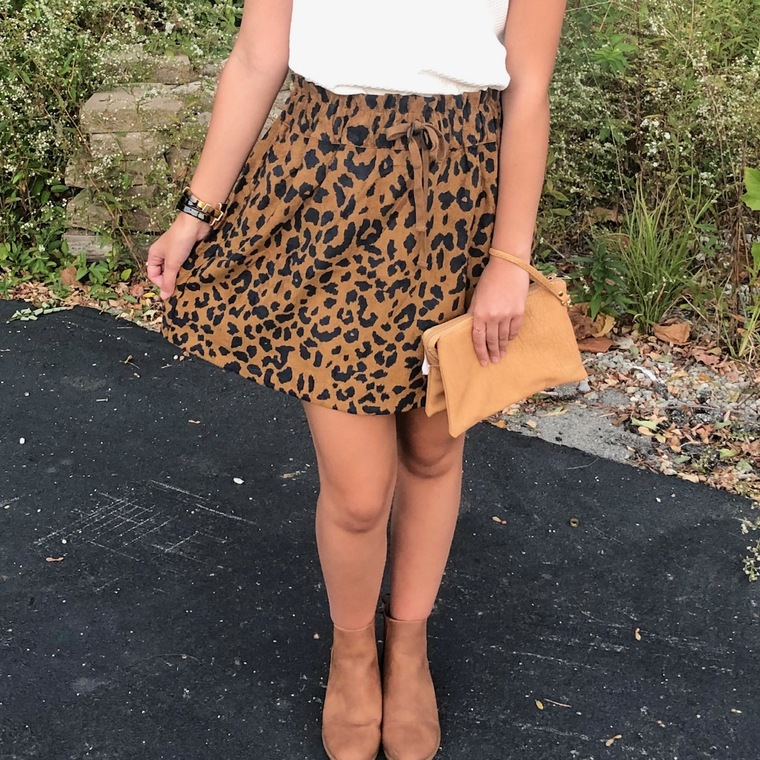 Hidden Heart Leopard Skirt