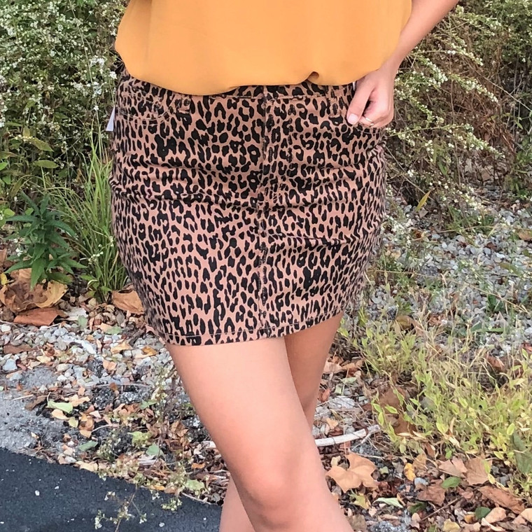 Because I Found You Leopard Skirt