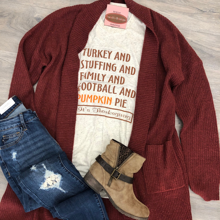 Turkey And Stuffing Thanksgiving Tee