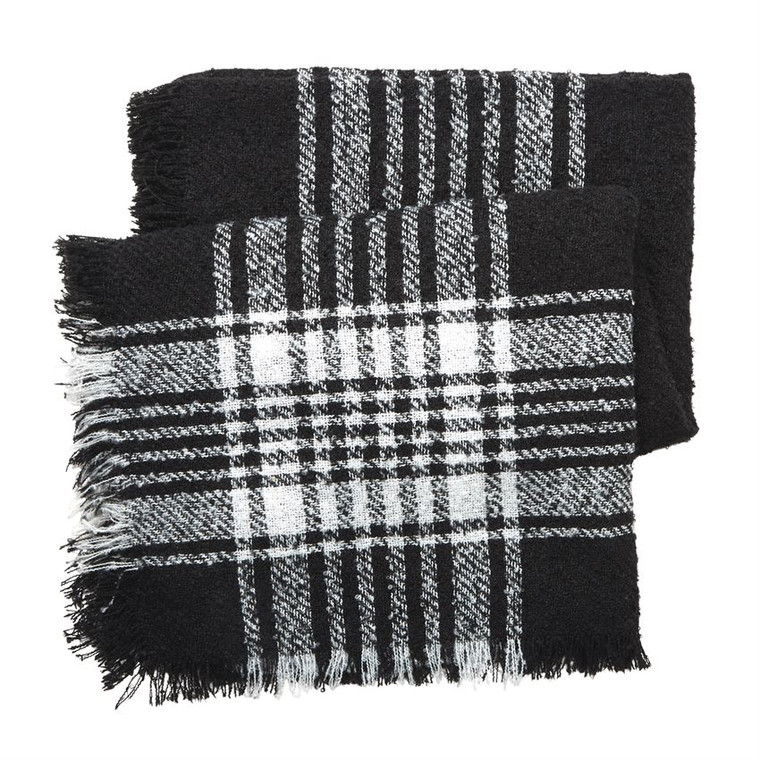 Mud Pie Boucle Square Scarf - BLACK