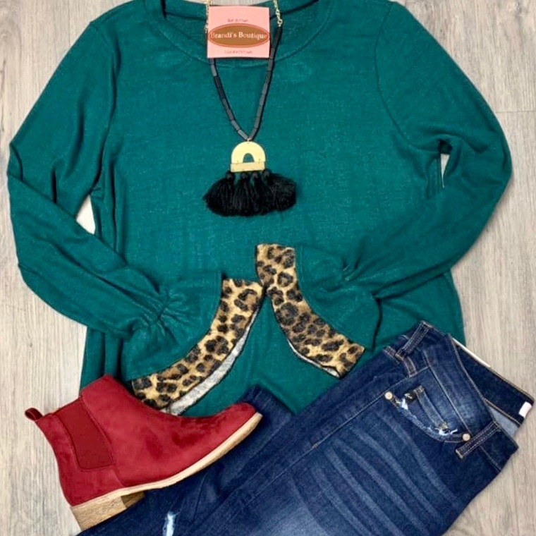 Something More To Say Tunic Top - EVERGREEN