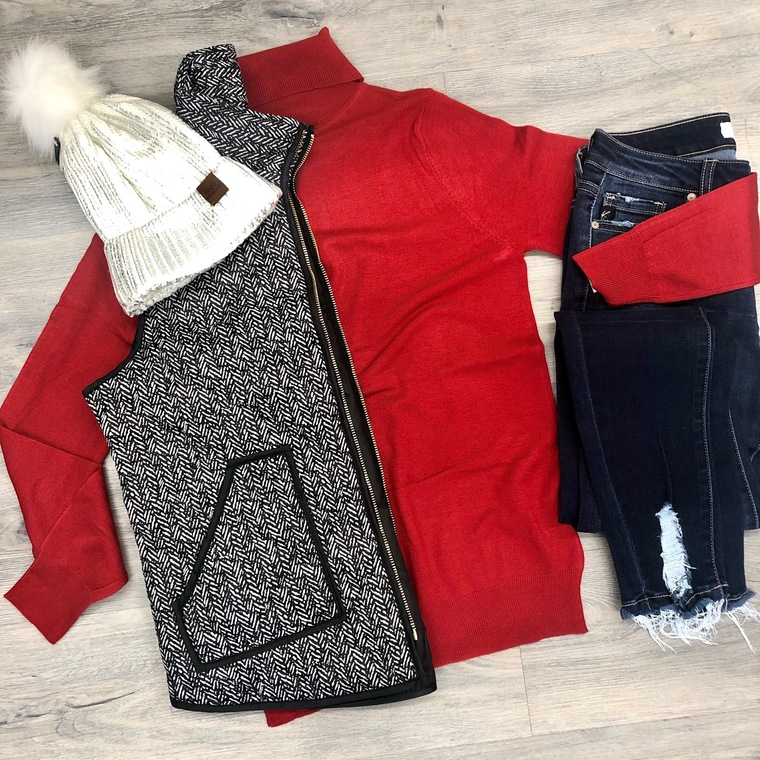 Total Control Sweater - RED