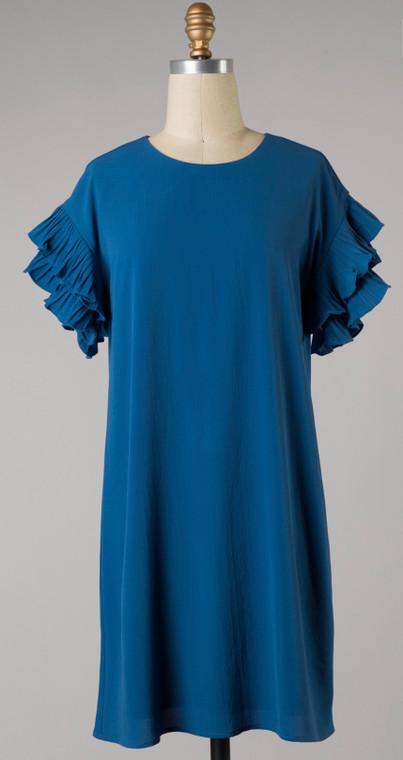 Ruby Ruffle Dress Royal