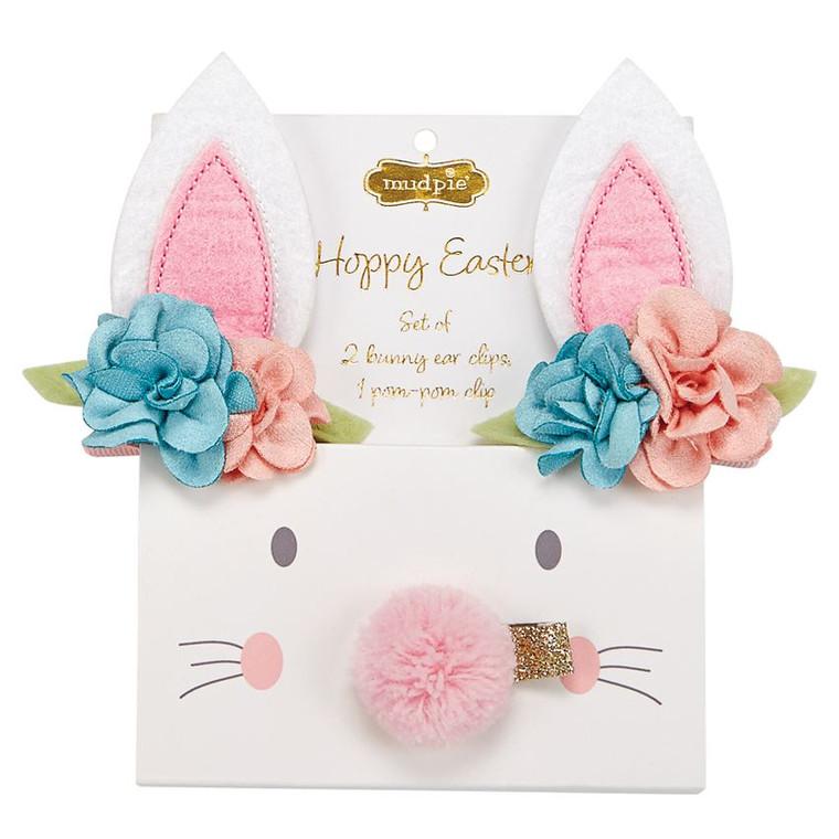 Mud Pie Easter Bunny Clip Set