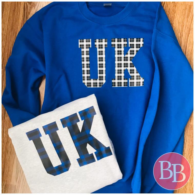 UK Plaid Sweatshirt - GREY
