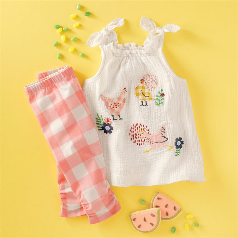 Mud Pie Chicken Tunic & Leggings