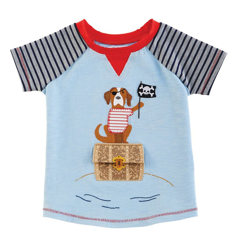 Mud Pie Summer Buds Tee - Pirate