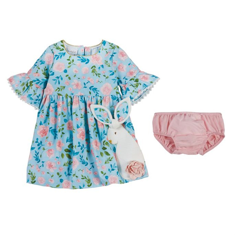 Mud Pie Floral Bunny Dress