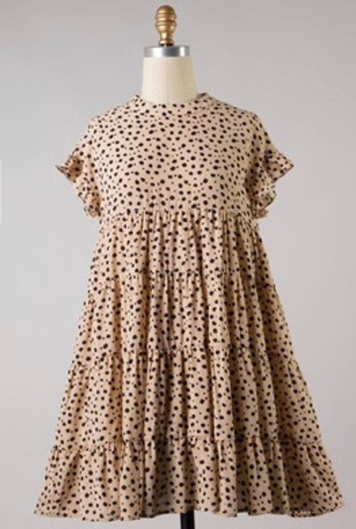 Finley Cheetah Baby Doll Dress