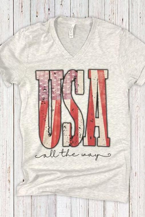 USA All The Way Tee