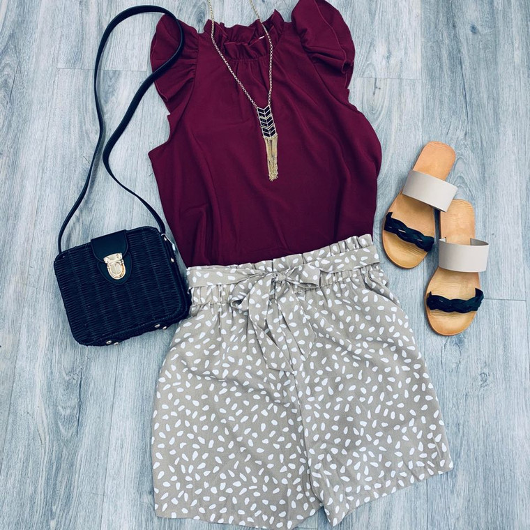 Reflection of Perfection Top - Burgundy