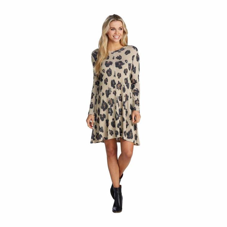 Mud Pie Jillie Swing Dress - Leopard