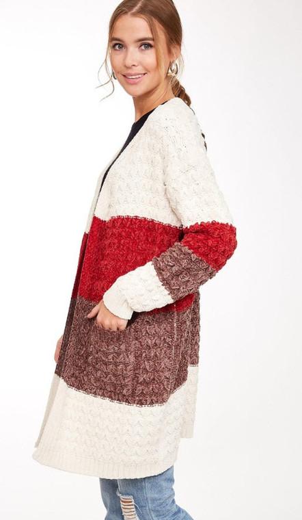 Constance Chunky Knit Cardigan - Cream