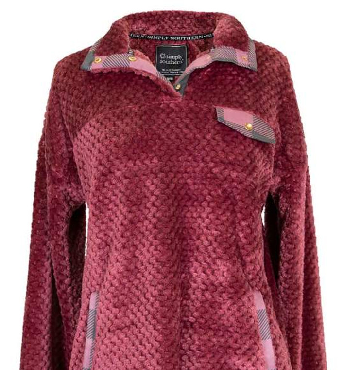Simply Southern Simply Soft Pullover - Plum