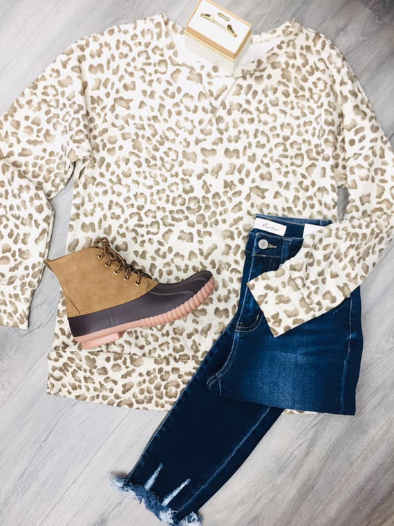 Lowe Leopard Tunic Taupe