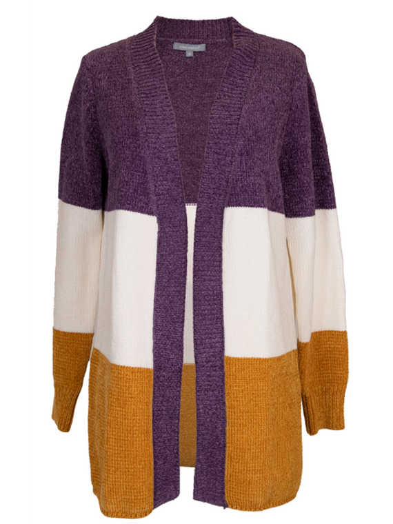 Simply Southern Stripe Chenille Cardigan - Mustard