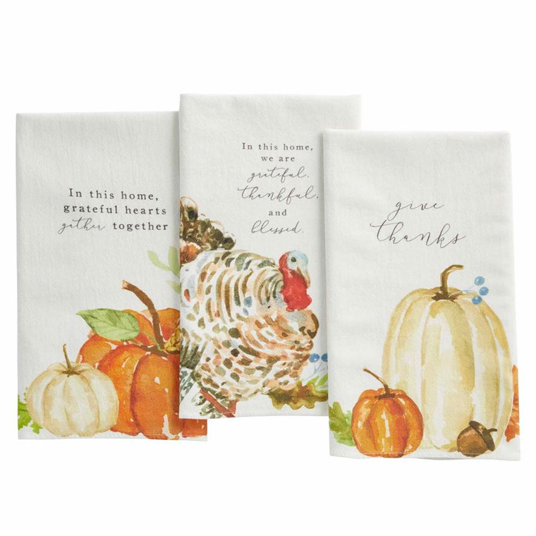 Mud Pie Pumpkin Turkey Flour Towel