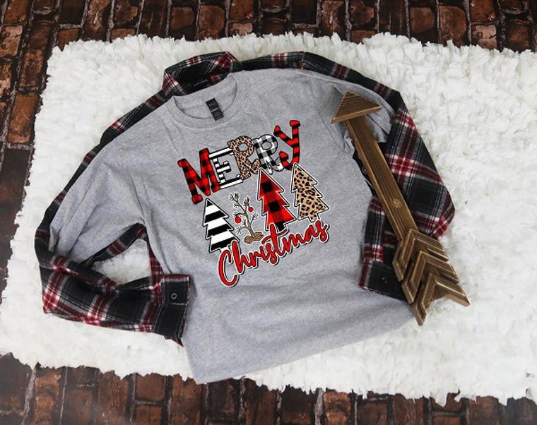Merry Christmas Trees Crew Neck Sweatshirt